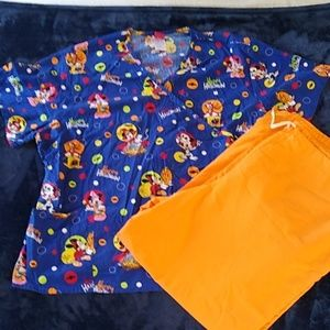 Mickey mouse Disney scrub top Halloween